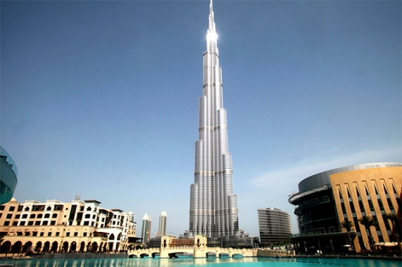 Challenging heights on the Burj Khalifa